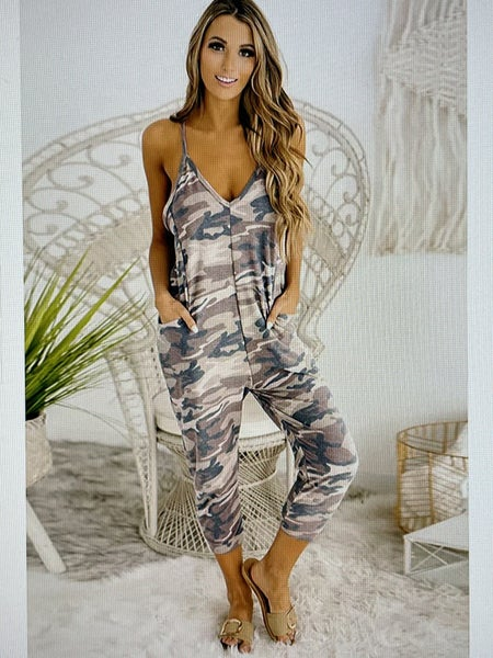CAMO Casual Slip Jumpsuit With Pockets
