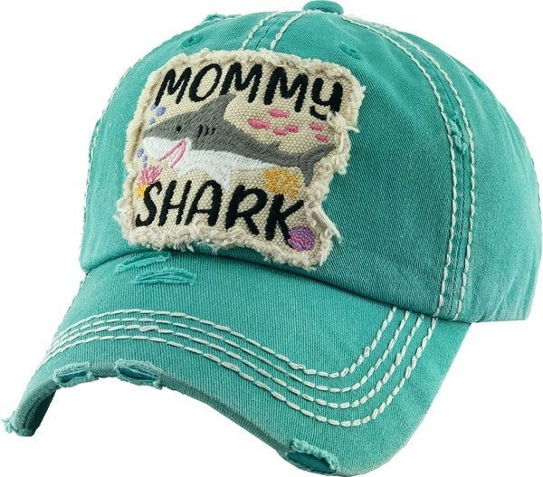 MOMMY SHARK VINTAGE BALLCAP HAT