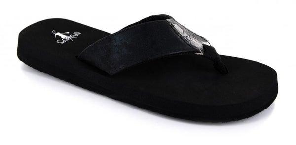 CORKYS CLOVER SANDALS - BLACK