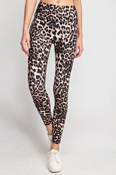 CHEETAH PRINT WORK OUT LEGGINGS