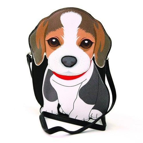 Beagle Cross Body Bag in Vinyl Material