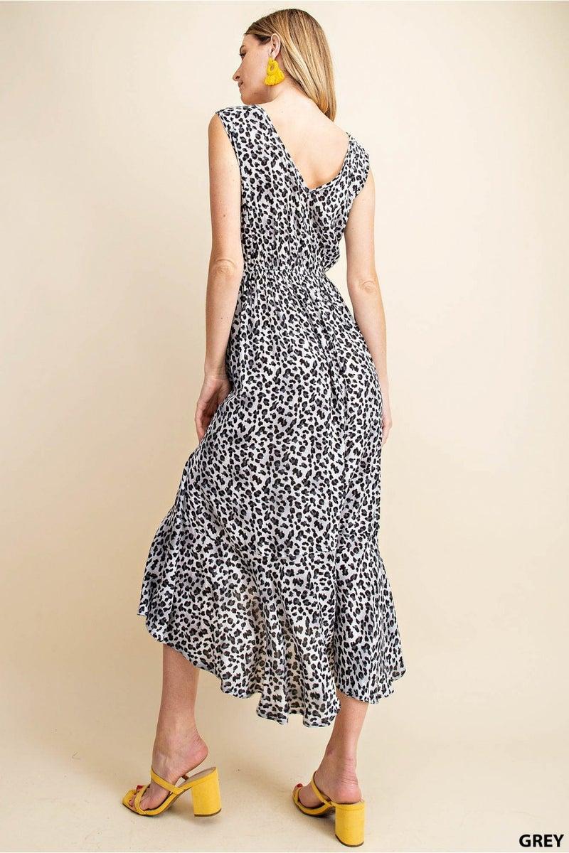 HIGH LOW LEOPARD DRESS