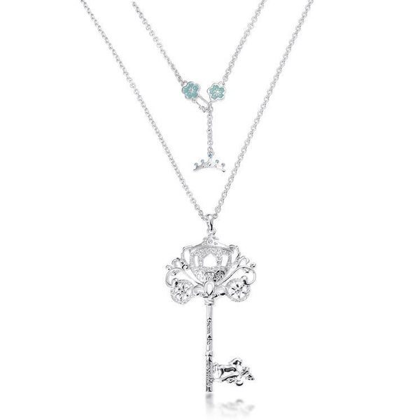COUTURE KINGDOM CINDERELLA PRINCESS KEY NECKLACE WHITE GOLD