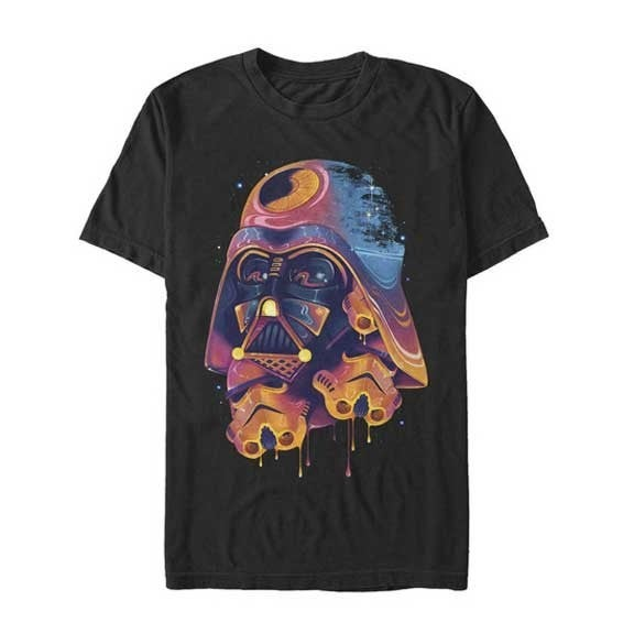STAR WARS COLOR MELTED DARTH VADER GRAPHIC TEE