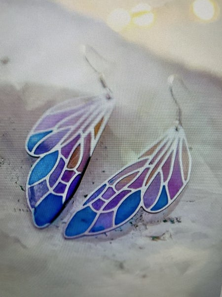 Gradient Color Butterfly Earrings