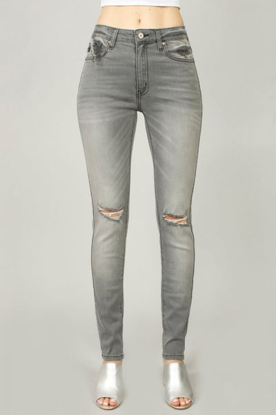 KanCan  High Rise Super Skinny Jean Grey Wash