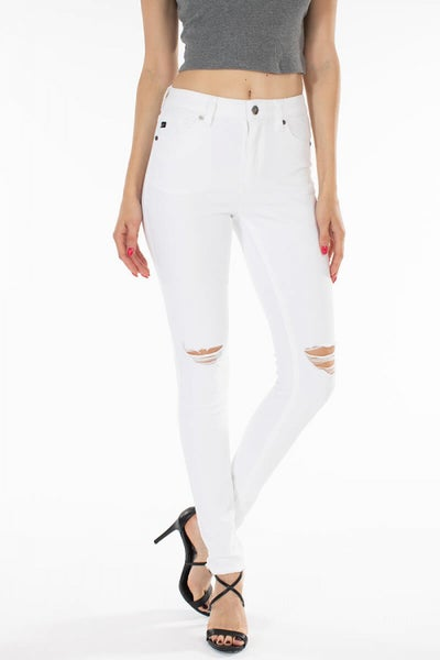 KANCAN HIGH RISE SUPER SKINNY JEAN WHITE