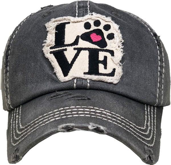 PAW LOVE VINTAGE BALLCAP