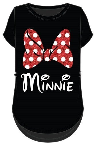 DISNEY Junior Fashion Top Minnie Mom Bow, Black