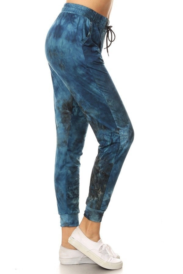NAVY TIE DYE BUTTERY SOFT JOGGERS