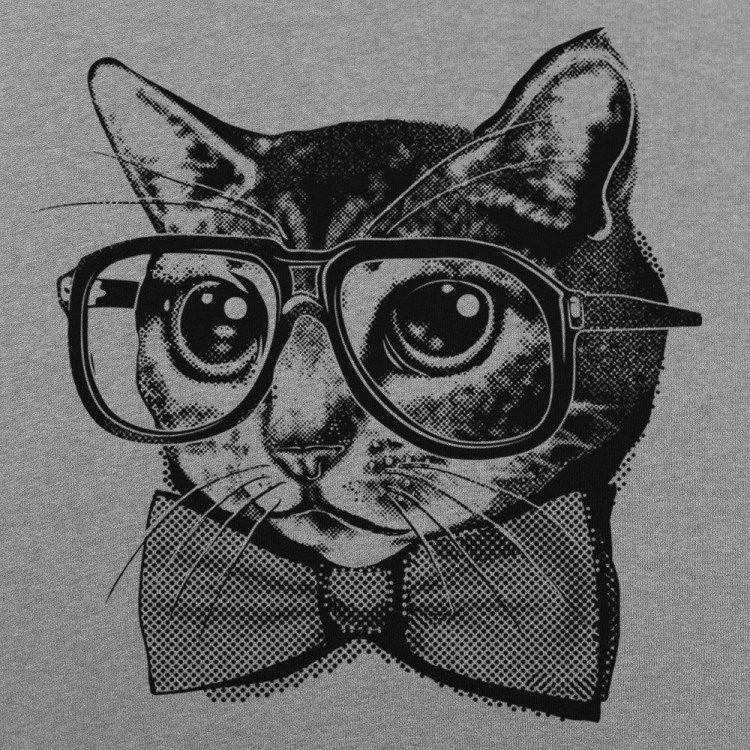 NERD CAT GRAPHIC TEE