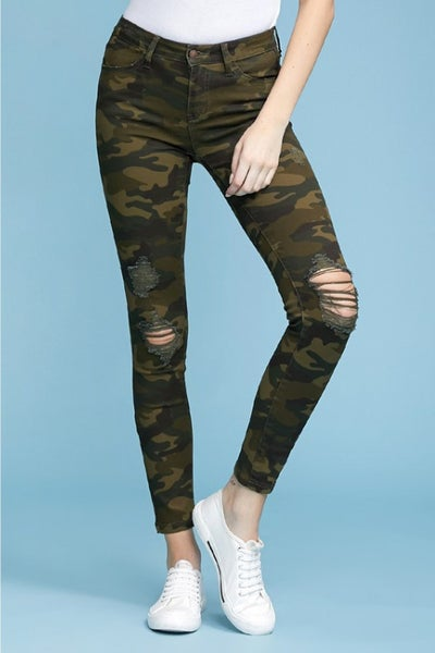 JUDY BLUE CAMO SKINNY DENIM