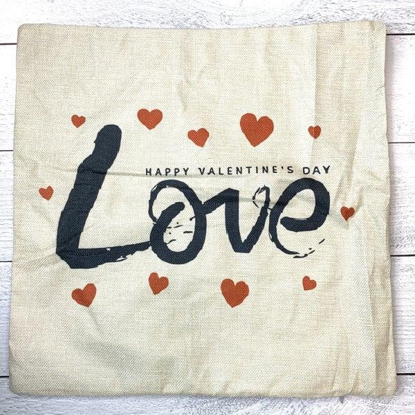 HAPPY VALENTINES DAY LOVE PILLOW CASE