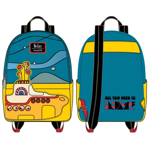 LOUNGEFLY THE BEATLES YELLOW SUBMARINE MINI BACKPACK