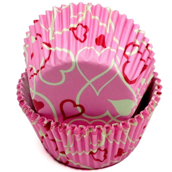 VALENTINE PINK BACKING CUPS - 50 COUNT
