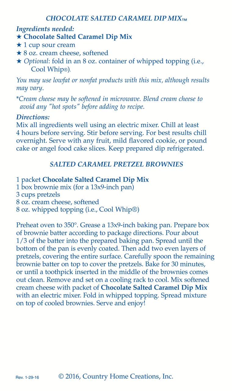 CHOCOLATE SALTED CARAMEL DIP MIX