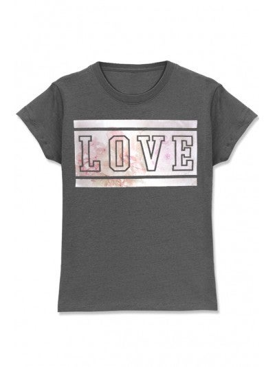 Girl's Graphic Tee w/ LOVE FOIL