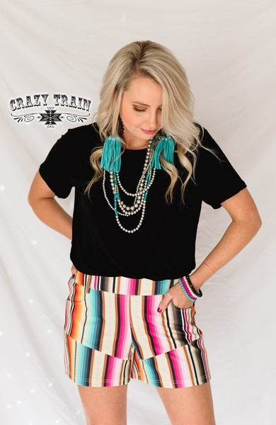 CRAZY TRAIN SELINA SERAPE SHORTS