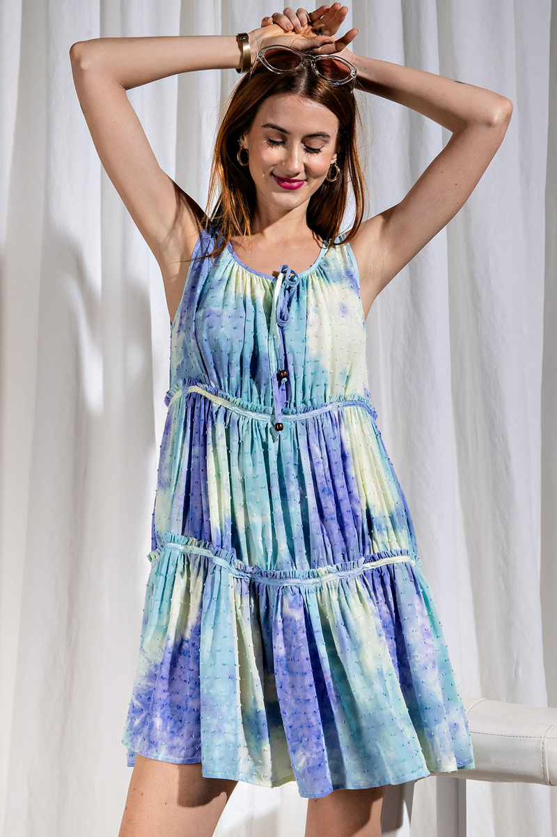EASEL TIE DYE DRESS