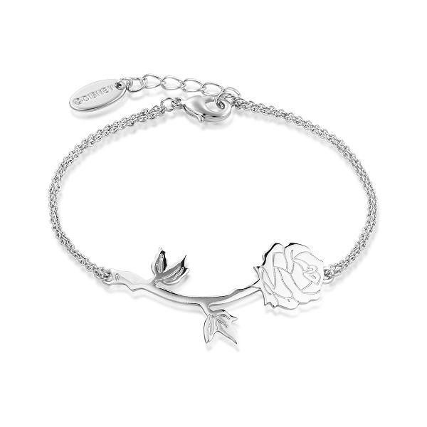 COUTURE KINGDOM Disney Beauty and the Beast Rose Bracelet - WHITE GOLD