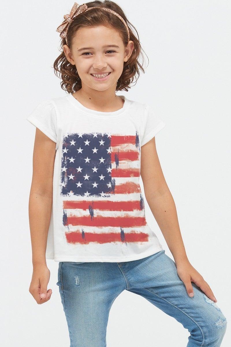 PHIL LOVE Kids American Flag Short Sleeve Top