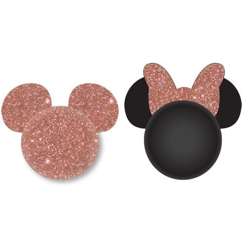 DISNEY Rose Gold Mickey and Rose Gold Minnie Antenna Topper