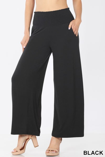 SMOCKED WAISTBAND LOUNGE PANTS
