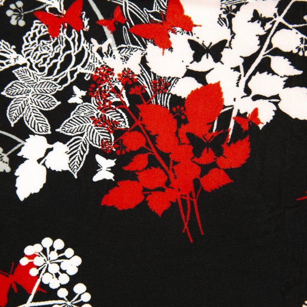 RED & BLACK BUTTERFLY LEGGINGS