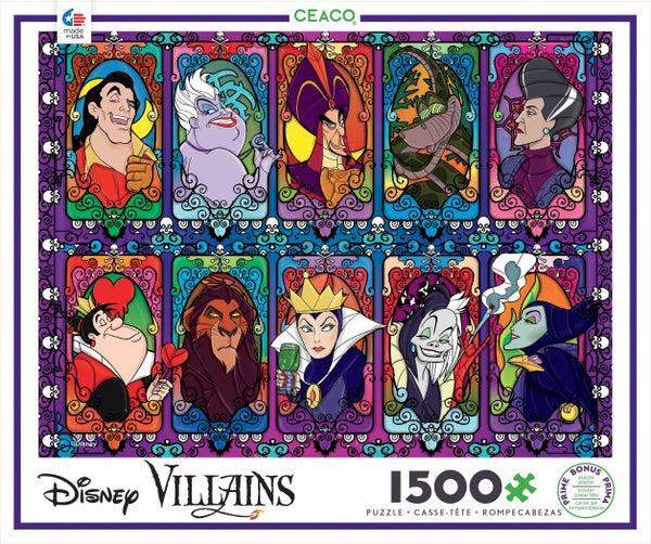 DISNEY 1,500 PIECE PUZZLE - VILLAINS