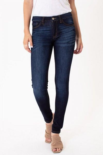 KANCAN Mid Rise Basic Super Skinny Jeans
