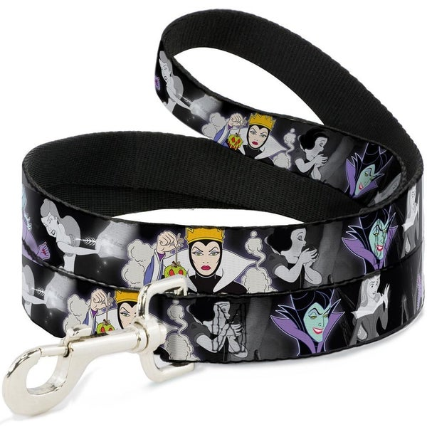 BUCKLE DOWN DOG LEASH - VILLAINS HEXING PRINCESS' SCENES COLOR/BLACK/WHITE