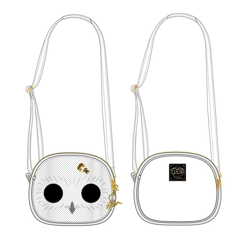LOUNGEFLY HARRY POTTER HEDWIG PIN TRADER CROSSBODY BAG