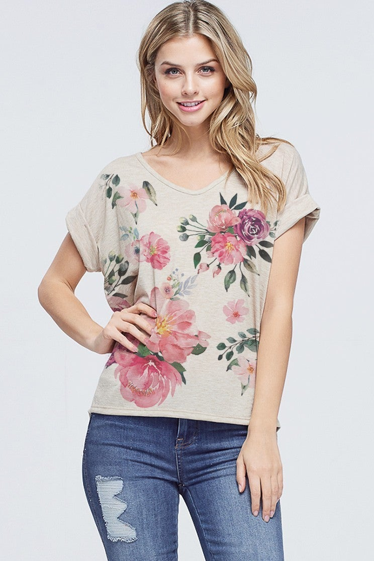 PHIL LOVE FLOWER ALL OVER TOP