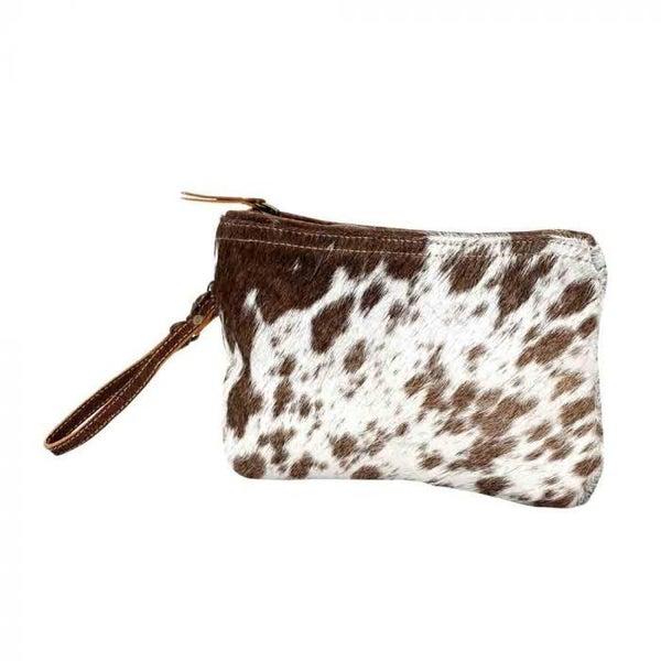 WHITE & BROWN HAIRON SMALL BAG