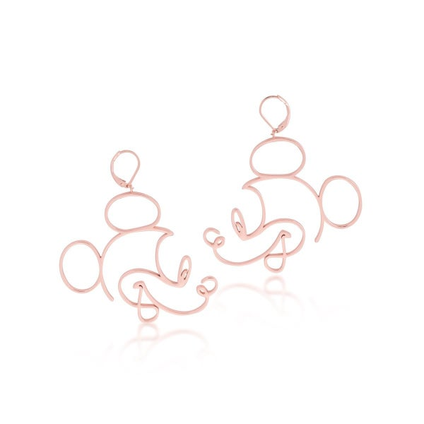 COUTURE KINGDOM DISNEY MICKEY MOUSE EARRINGS - ROSE GOLD