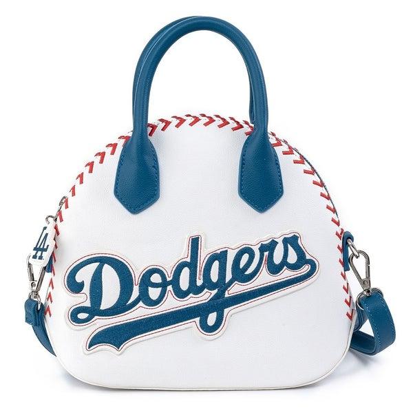 LOUNGEFLY X MLB LA DODGERS BASEBALL STITCH DOME CROSS BODY BAG