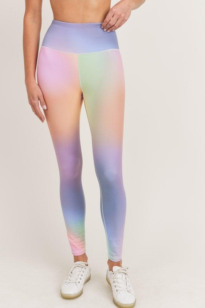 MONO B Rainbow Pastel Highwaist Leggings