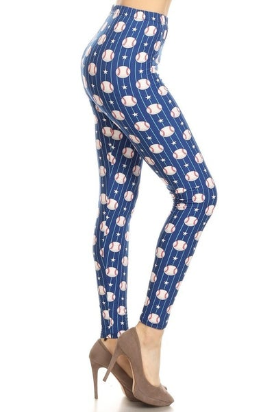 BASEBALL PRINT LEGGINGS