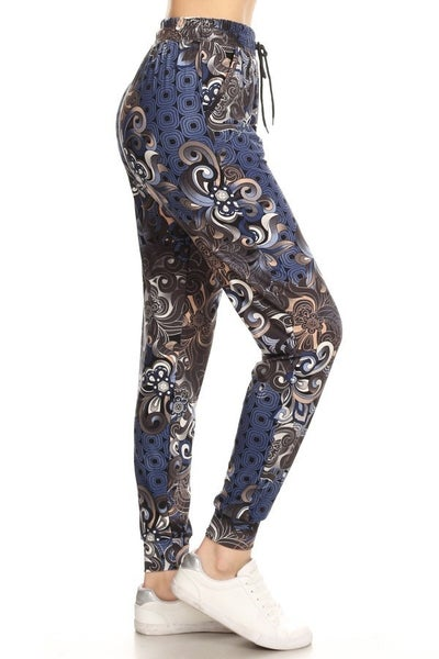 FLORAL PAISLEY BUTTERY SOFT JOGGERS