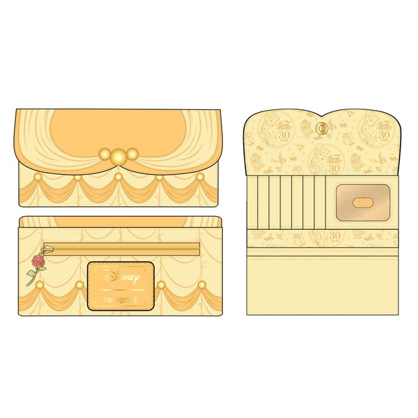 LOUNGEFLY DISNEY BEAUTY & THE BEAST BELLE COSPLAY WALLET (PRE-ORDER, MAY 2021)