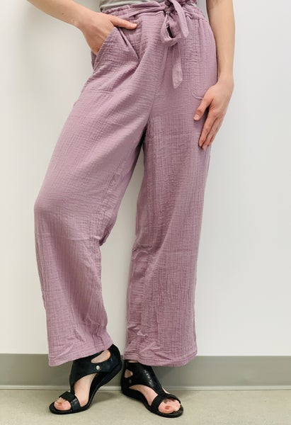 COTTON DOUBLE GAUZE COZY PANTS