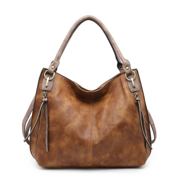 Distressed Side Pocket Tote