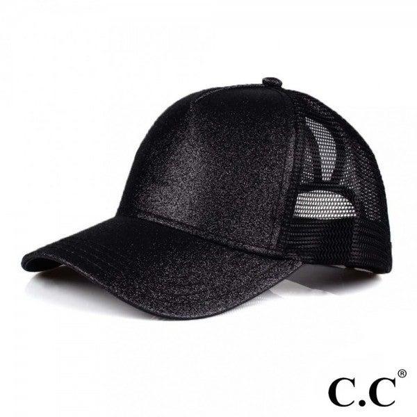 SPARKLE PONYTAIL CAP