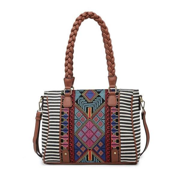 Leona Aztec Embroidered Tote