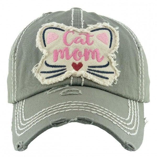 CAT MOM VINTAGE CAP HAT