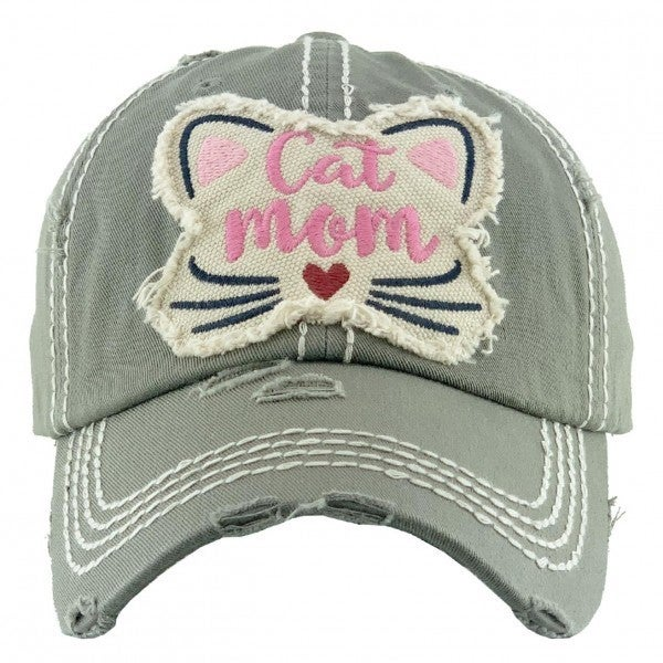 CAT MOM VINTAGE CAP HAT