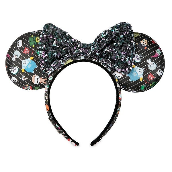 The Nightmare Before Christmas Minnie Mouse Ear Headband by Loungefly