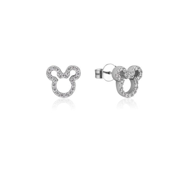 COUTURE KINGDOM Disney Precious Metal Mickey Mouse Crystal Outline Stud Earrings