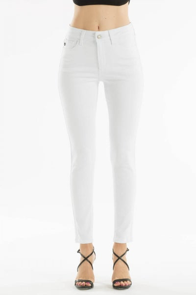 KANCAN GEMMA HIGH RISE SUPER SKINNY WHITE