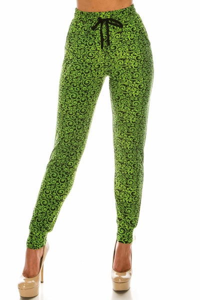 BUTTERY SOFT GREEN IRISH VINE JOGGERS